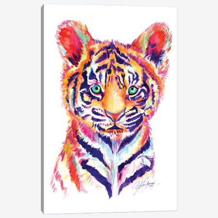 Baby Tiger Canvas Print #YGM2} by Yubis Guzman Canvas Artwork