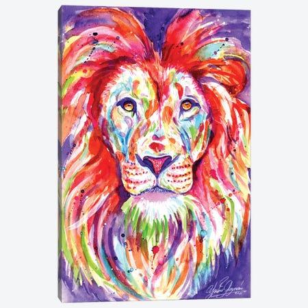 The Colorful King Lion Canvas Print #YGM31} by Yubis Guzman Canvas Print