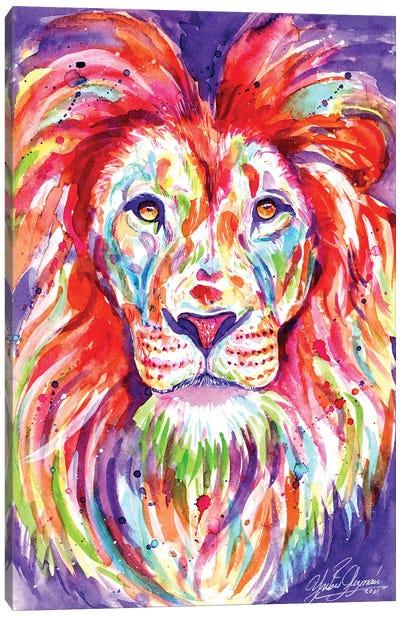 The Colorful King Lion Canvas Art Print