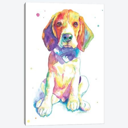 Beagle Puppy Canvas Print #YGM32} by Yubis Guzman Canvas Art Print