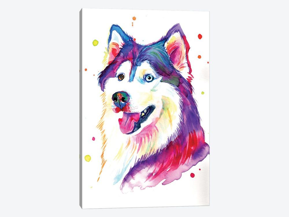 Beautiful She-Wolf by Yubis Guzman 1-piece Canvas Artwork