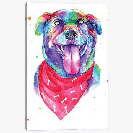 Blue Dog IV Canvas Print #YGM35} by Yubis Guzman Canvas Artwork