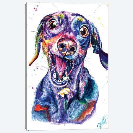 Catching Dog Canvas Print #YGM36} by Yubis Guzman Canvas Artwork