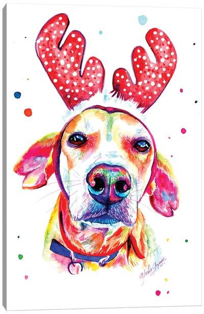 Christmas Dog Canvas Art Print