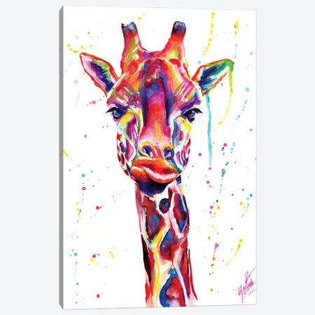 Colorful Giraffe Canvas Print #YGM38} by Yubis Guzman Canvas Print