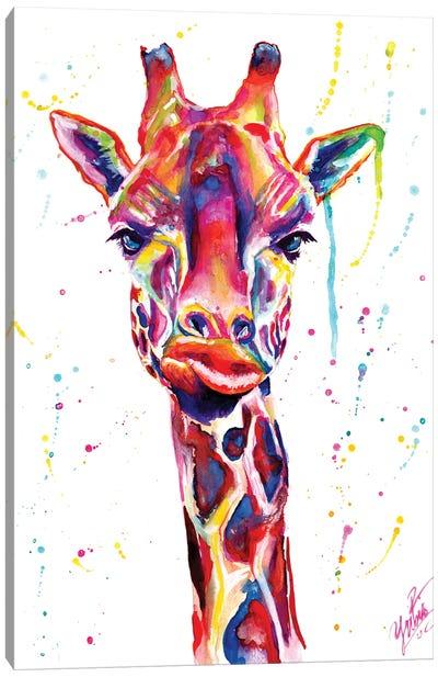 Colorful Giraffe Canvas Art Print