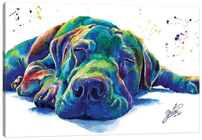 Blue Dog I Canvas Art Print
