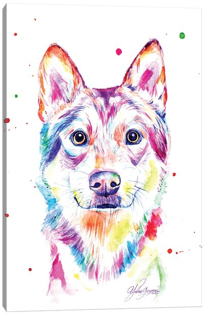 Colorful Wolf Canvas Art Print