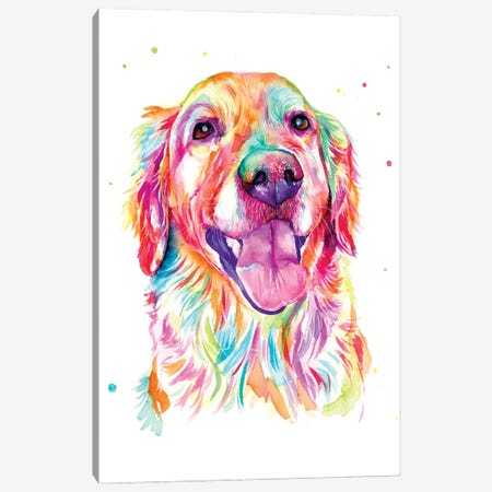 Golden Retriever Canvas Print #YGM44} by Yubis Guzman Canvas Art Print
