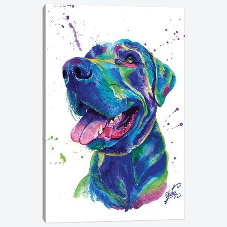 Blue Dog II Canvas Print #YGM4} by Yubis Guzman Canvas Print