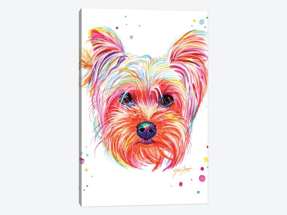 Yorkie Puppy by Yubis Guzman 1-piece Canvas Wall Art