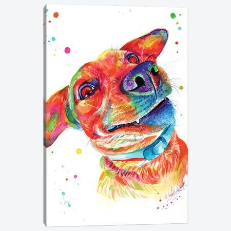 Funny Dog Canvas Print #YGM52} by Yubis Guzman Canvas Print