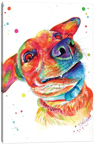 Funny Dog Canvas Art Print