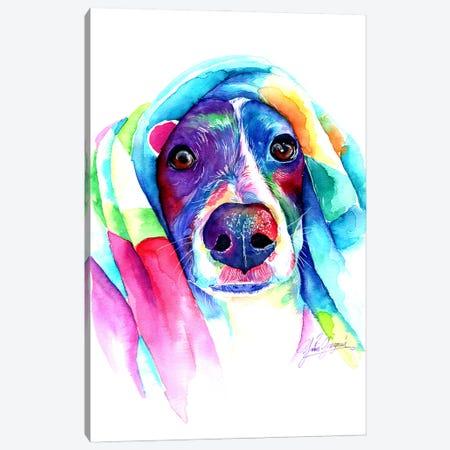 Heat Loving Dog Canvas Print #YGM53} by Yubis Guzman Canvas Print