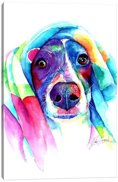 Heat Loving Dog Canvas Art Print