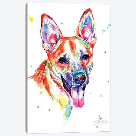 Colorful Portrait Of Dog Canvas Print #YGM58} by Yubis Guzman Art Print