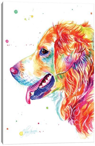 Colorful Golden Retriever Canvas Art Print
