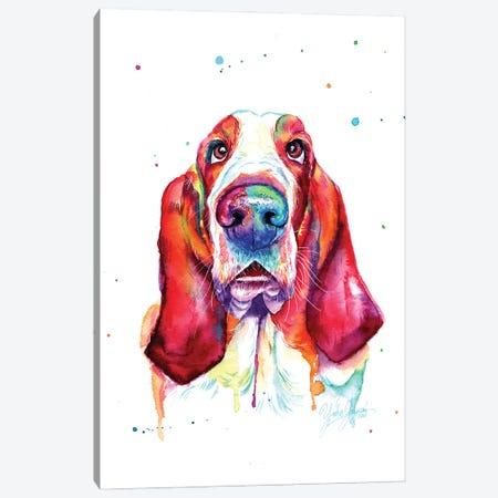 Colorful Basset Hound Canvas Print #YGM69} by Yubis Guzman Canvas Art