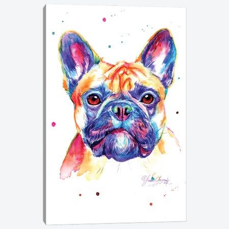 Colorful Bulldog Frances Canvas Print #YGM6} by Yubis Guzman Art Print