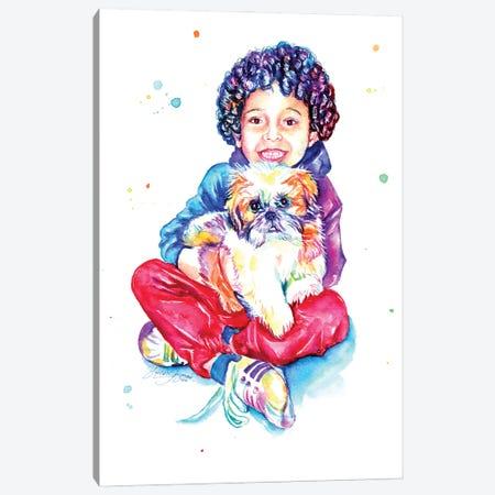 Sweet Little Friends Canvas Print #YGM76} by Yubis Guzman Canvas Wall Art