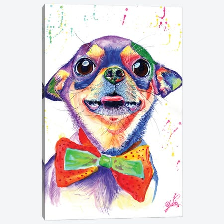 Colorful Chihuahua Canvas Print #YGM8} by Yubis Guzman Canvas Wall Art