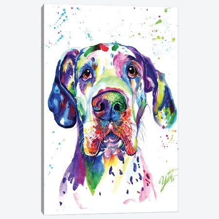 Colorful Great Dane Canvas Print #YGM9} by Yubis Guzman Canvas Artwork