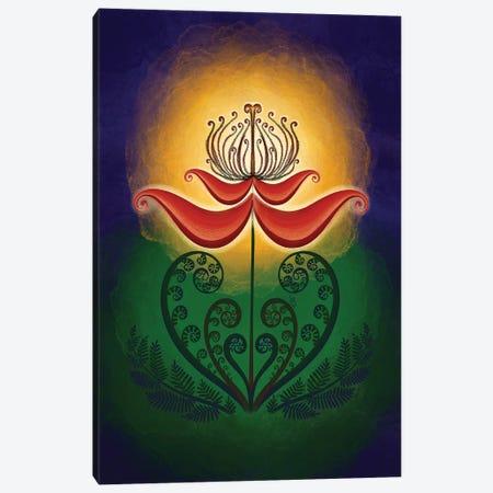 The Fern Flower Is Bloomed - Digital Art Canvas Print #YLB13} by Yulia Belasla Art Print