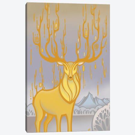 Red Deer Canvas Print #YLB14} by Yulia Belasla Canvas Artwork