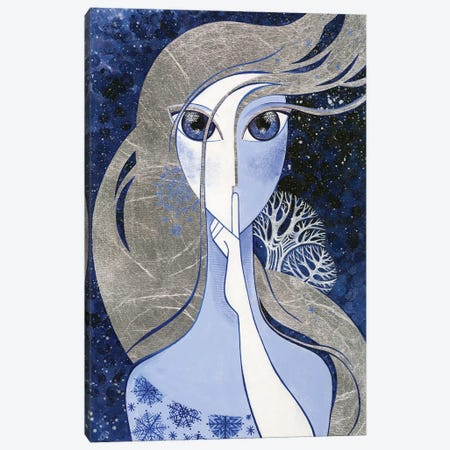 Silent Song Of Winter Canvas Print #YLB18} by Yulia Belasla Art Print