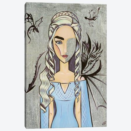 Daenerys Targaryen Canvas Print #YLB19} by Yulia Belasla Art Print