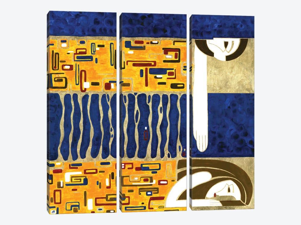 Threads Of Fate by Yulia Belasla 3-piece Canvas Art Print