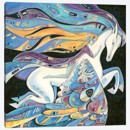 Flight With The Pegasus Canvas Print #YLB31} by Yulia Belasla Canvas Print