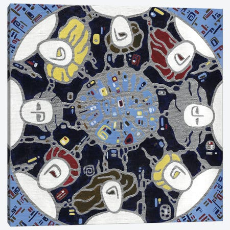 Sleeping Under The Moon Canvas Print #YLB37} by Yulia Belasla Canvas Art