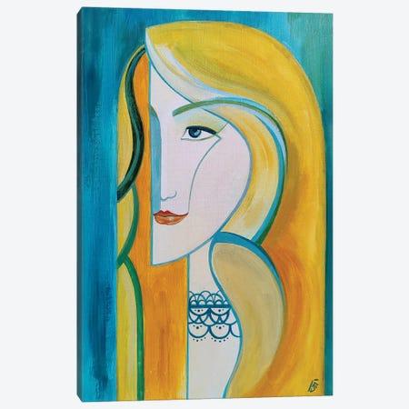 Blonde Canvas Print #YLB38} by Yulia Belasla Canvas Art Print