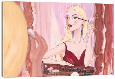 Reflection, Anya Taylor-Joy, Female Portrait Painting Canvas Art Print