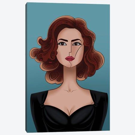 Monica Belluci Canvas Print #YLB42} by Yulia Belasla Canvas Artwork