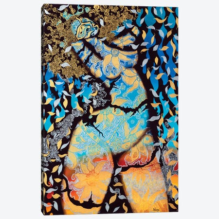 Golden Venus II Canvas Print #YLR16} by Yelena Revis Canvas Artwork