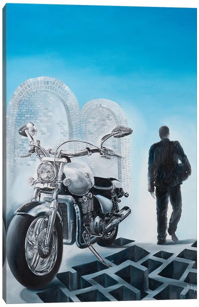 Lone Rider Canvas Art Print