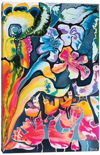 Night Commotion Canvas Art Print