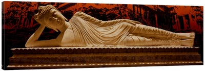 Laying Buddha at Angkor Wat Canvas Art Print