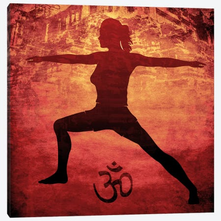 OM Warrior Stance Canvas Print #YOG12} by iCanvas Canvas Art