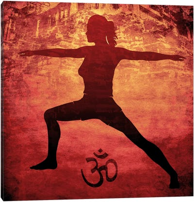 OM Warrior Stance Canvas Print #YOG12