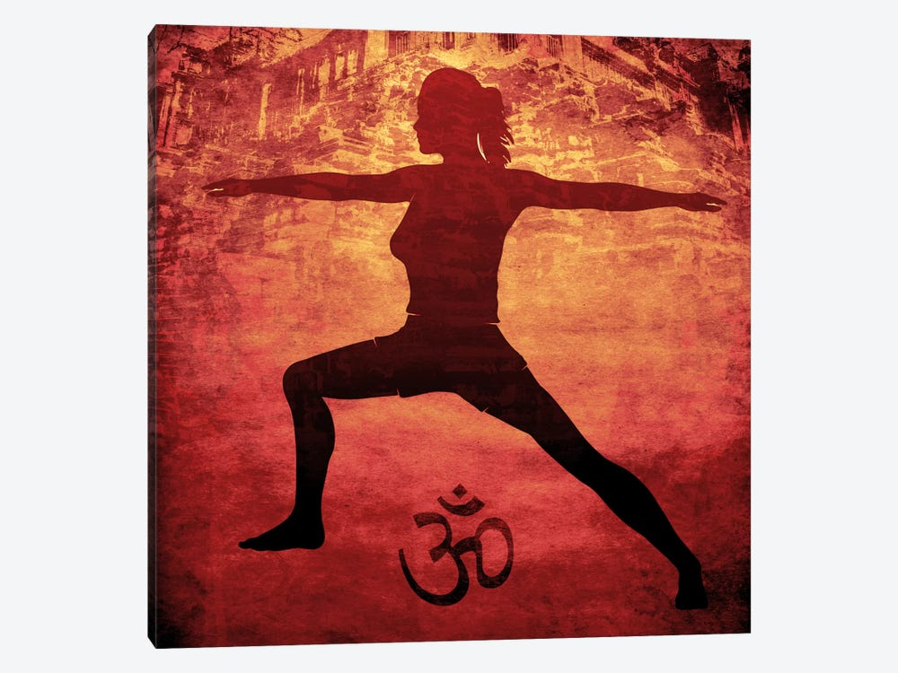 OM Warrior Stance 1-piece Canvas Print