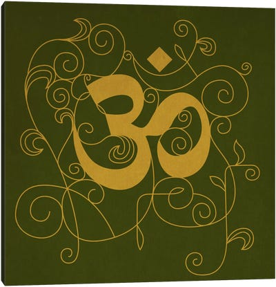 OM Meditation Canvas Art Print