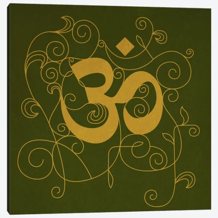 OM Meditation Canvas Print #YOG5} by Unknown Artist Canvas Print