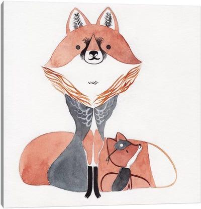 Moon Fox Canvas Art Print