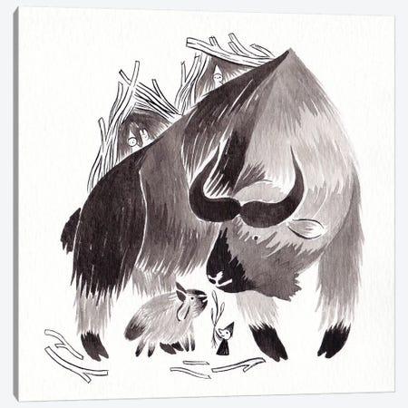 Takin Canvas Print #YOS34} by Yohan Sacre Art Print