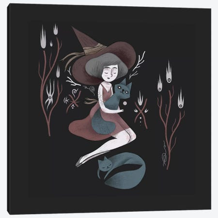 Witch Canvas Print #YOS42} by Yohan Sacre Canvas Print