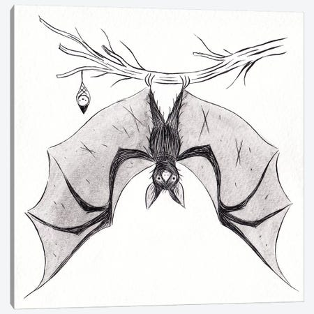 Bat Canvas Print #YOS5} by Yohan Sacre Canvas Wall Art