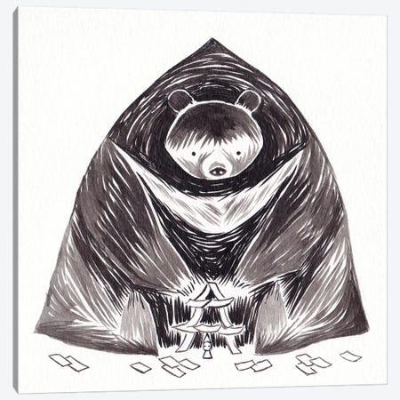 Bear Canvas Print #YOS6} by Yohan Sacre Canvas Artwork